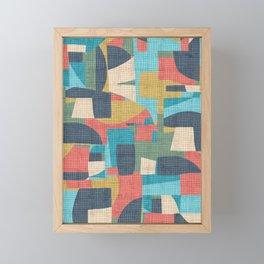 crosshatch patchwork Framed Mini Art Print