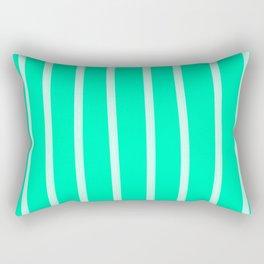 Mint Vertical Brush Strokes Rectangular Pillow