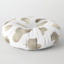 Golden cow hide print Floor Pillow