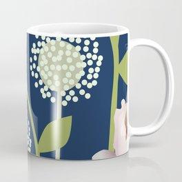 Snowballs and Pink Flowers Coffee Mug