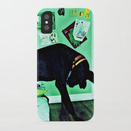 just like the man whose feet were too big for his bed. iPhone Case