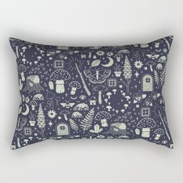 Fairy Garden: Midnight Rectangular Pillow