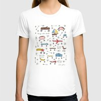 things with wheels White SMALL Womens Fitted Tee