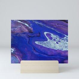 Purple Cobalt Flow Mini Art Print