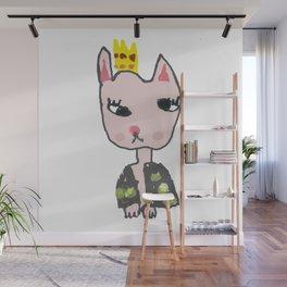 Cat Girl Kids Painting Wall Mural