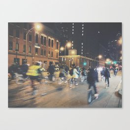 Late Night Bike Ride Canvas Print