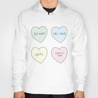 sassy Hoodies featuring Sassy Hearts by laurenschroer