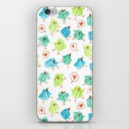 Scribble Birds iPhone Skin