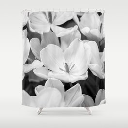 The Bloom (Black and White) Shower Curtain