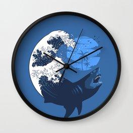 Wave megalodon Wall Clock