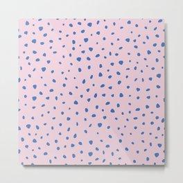 Cheetah winter minimal wild cat spots animal print trend Classic Blue color of the year pink Metal Print