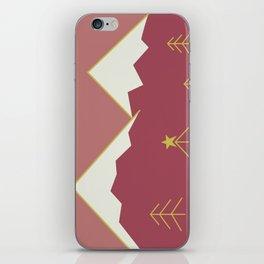 Minimalist Mountains iPhone Skin