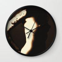 nudes Wall Clocks featuring Nudes Art 2010 by Falko Follert Art-FF77