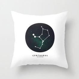 Centaurus - Star Constellation Throw Pillow