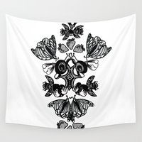 insects Wall Tapestries featuring Insects by Sierra Neale