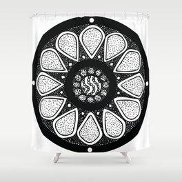 Flower Petal Mandala - Hand Drawn Design Shower Curtain
