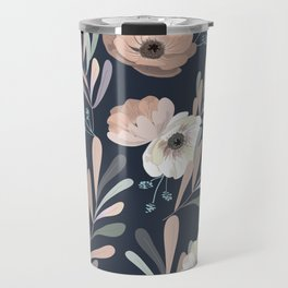 Anemones & Olives blue Travel Mug