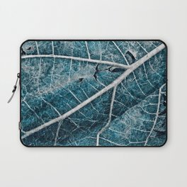 Frozen Winter Leaf Laptop Sleeve