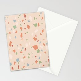 Peach Terrazzo Stationery Cards