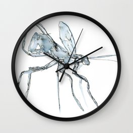 Mosquito, Watercolor Wall Clock