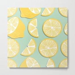 Lemon Pattern 11 Metal Print