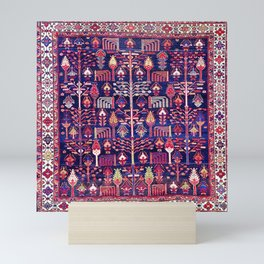 Bakhtiari Khan West Central Persian Rug Print Mini Art Print