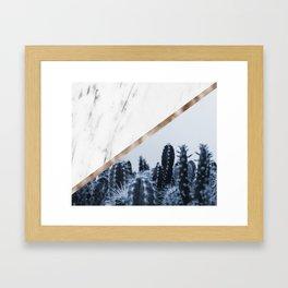 Cool marble desert blooms Framed Art Print