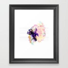 Take a breath Framed Art Print