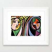picasso Framed Art Prints featuring Picasso by Kathleen Carroll