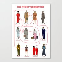tenenbaums Canvas Prints featuring The Royal Tenenbaums by Shanti Draws