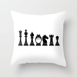 Chess Anime Character Throw Pillow
