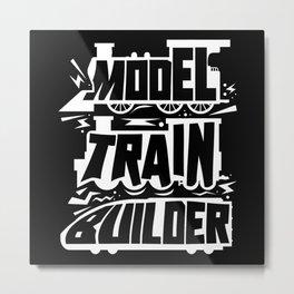 Model Railway Trains Railroad Train Metal Print