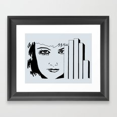 Took My Hands Off of Your Eyes Too Soon (B/W) Framed Art Print