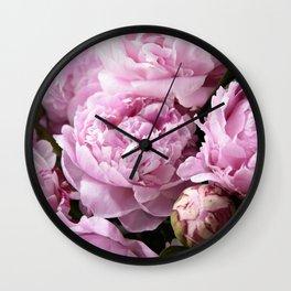 Dream on, Peonies... Wall Clock