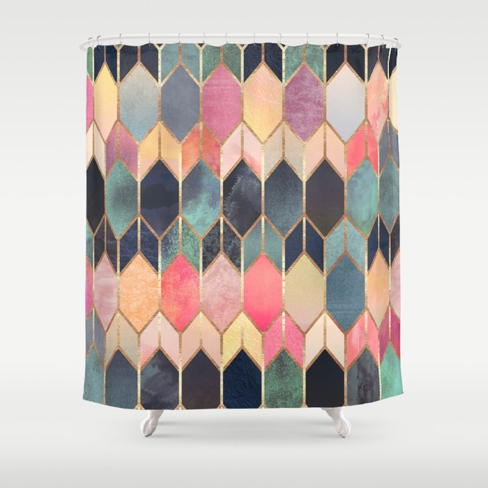 Stained Glass 3 Shower Curtain