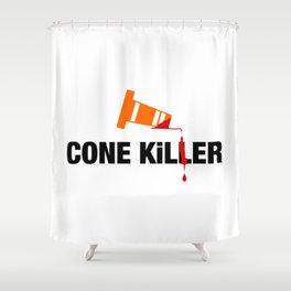 Cone Killer V2 HQvector Shower Curtain
