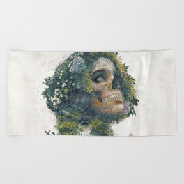 Between Life and Death Beach Towel