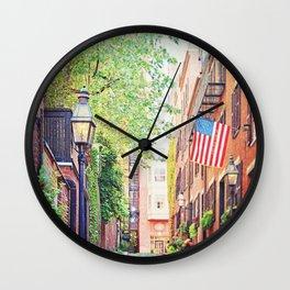 Historic Acorn Street, Beacon Hill Wall Clock