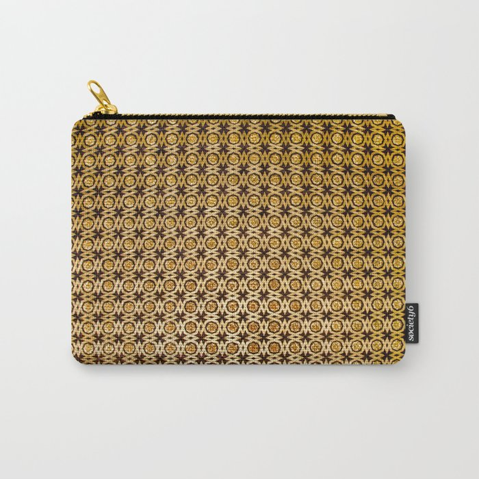 Gold and wood carving pattern Carry-All Pouch