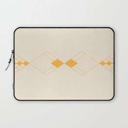Minimal Geometry - Golden Laptop Sleeve
