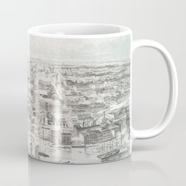 Vintage Pictorial Map of Buffalo NY (1853) Coffee Mug