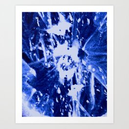 Broken Blue Art Print