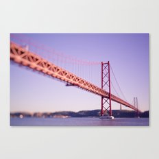 Red Bridge Canvas Print