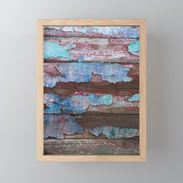Peeling Paint Framed Mini Art Print