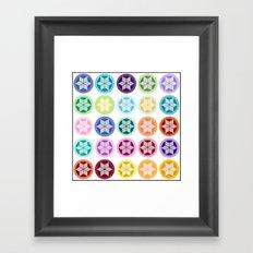 Colorful Snowflake Print Framed Art Print