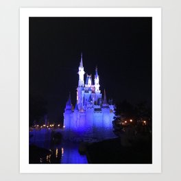 Magical Princess Castle Art Print