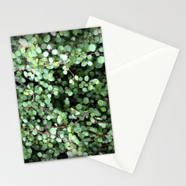 Flower | Flowers | Small Green Leaves | Leaf Vine Vignette Stationery Cards