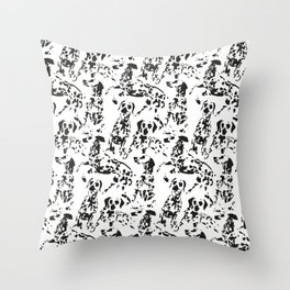 DALMATIAN / pattern pattern Throw Pillow