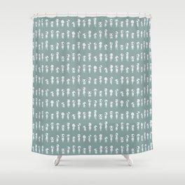 Ghibli Spirits - Kodama Mononoke pattern Shower Curtain