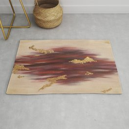 Autumn Skies Abstract Fall Painting Rug